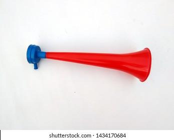 Blank Vuvuzela Stadium Plastic Horn, Fan vuvuzela trumpet isolated on white background