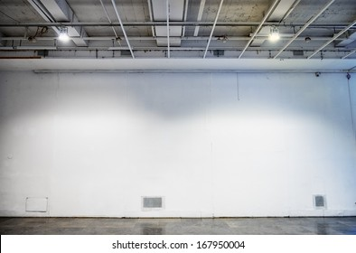 blank wall at a gallery - nice background with space for text