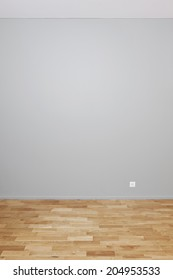 Blank wall interior to insert your own objects or artwork