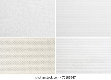 Blank watercolor paper textures set