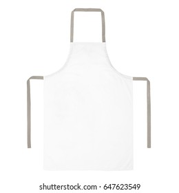 Blank white apron isolated on white background