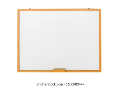 blank white boards on wood background