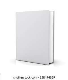 Blank white book cover - isolated on white background