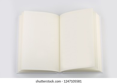 Blank White Book Or Notebook isolated on white background with clipping path.
