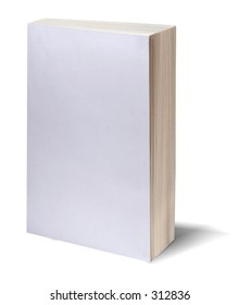 Blank white bookcover with clipping path - perfect to insert your own design