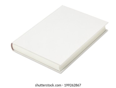 Blank White Book/with clipping path