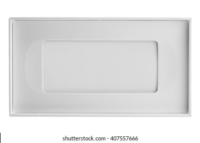 Blank white box mock up isolated on white with clipping path