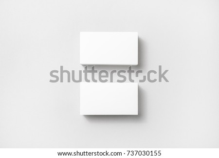 blank white business cards on paper stock photo edit now 737030155