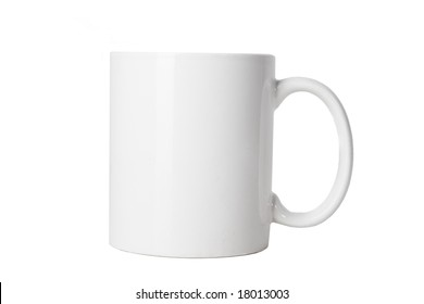 blank white cup on white ground