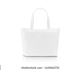 Set blank tote bags template your stock vector royalty free blank white fabric canvas shopping bag for save global warming isolated on white background with clipping maxwellsz