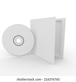 Blank white form - drive in the box. Isolated background