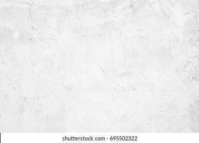 Blank white grunge cement wall texture background, banner, interior design background