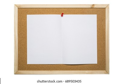 blank white note paper on cork board,notification concept