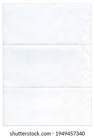 Blank white page with bend marks.
