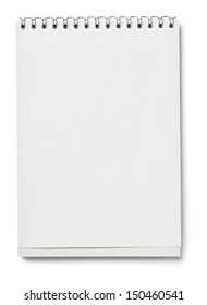 blank white paper on white background with clipping path
