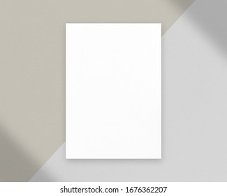 Blank white paper photo mockup. Mockup scene. Empty paper photo mockup with clipping path.