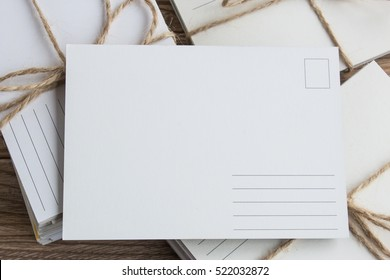 Blank white post cards, empty postcard, postcrossing