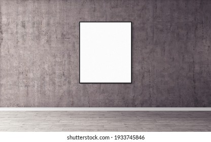 Blank white poster with frame. Good use for you print preview.
