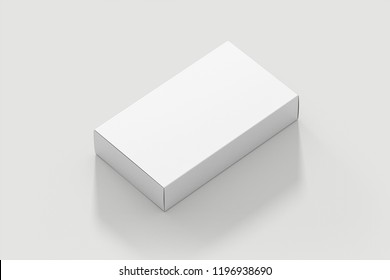 Blank White Product Package Box Mock-up. Container, Packaging Template on white background