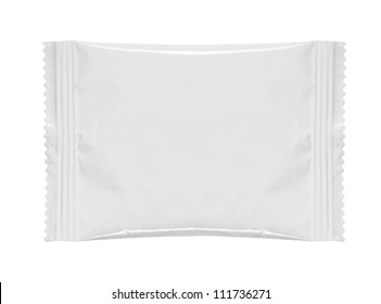 blank white product packaging on white bacground
