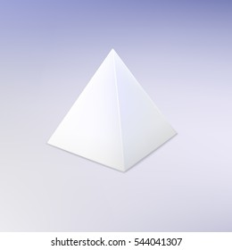 Blank White Pyramid. Template For Your Design.