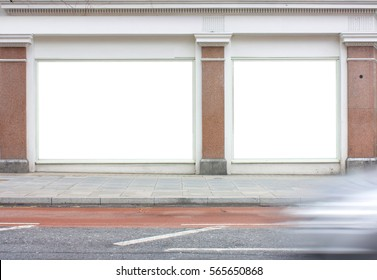 blank white signage or advertising space for message