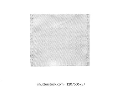 1ff1adc2b5bac9 Blank white textile patch isolated over white