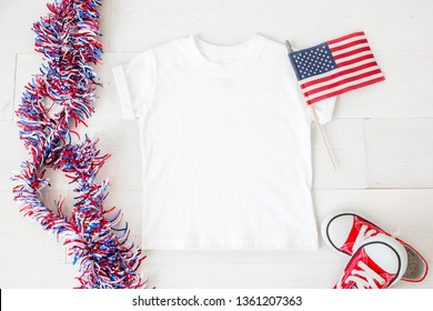 cd1a63c62 Blank white toddler unisex t-shirt, 4th of july apparel mock up