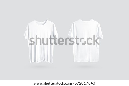 Blank White Tshirt Front Back Side Stock Photo Edit Now 572017840