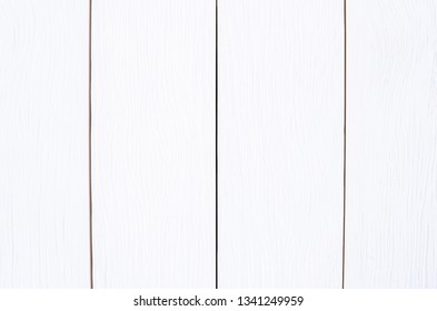 Blank White Wooden Planks. Wood Texture Background.