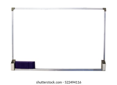 Blank Whiteboard isolate on white