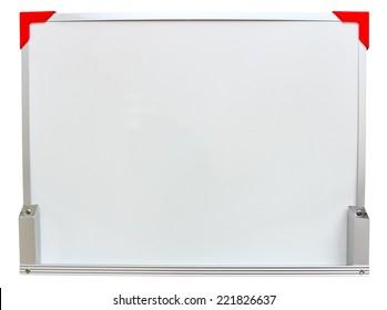 Blank Whiteboard on white back ground