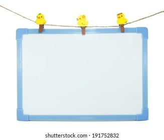 Blank Whiteboard on white background
