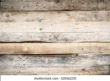 blank wood sign background. rough planks with nails, texture