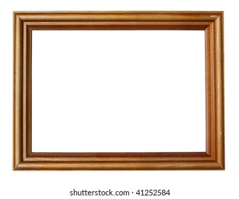 blank wooden frame isolated on white