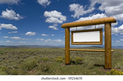 Blank wooden sign with nice sky in the background