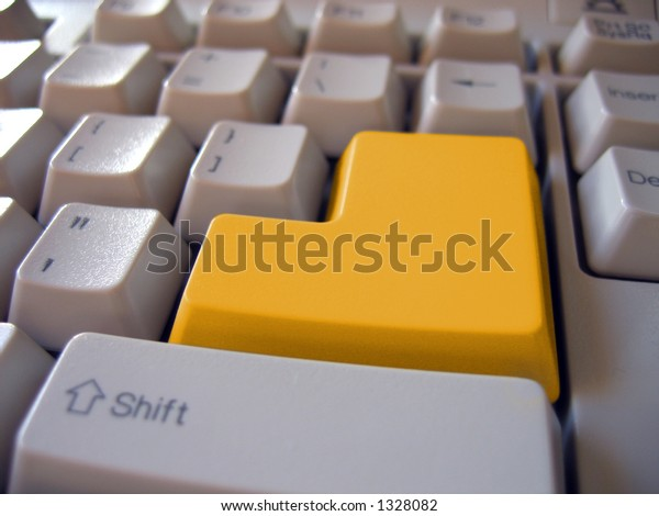 Blank yellow button