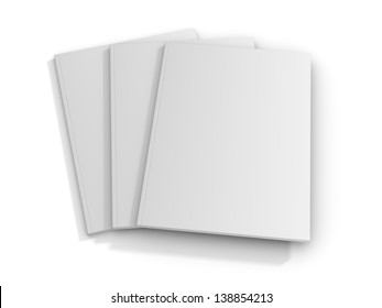 Blank/empty magazine covers on white background.