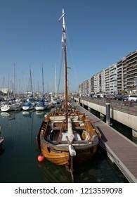 Blankenberge, Belgium - 7 August 2018: The marina of Blankenberge.