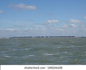 blankenberge seen from the north sea