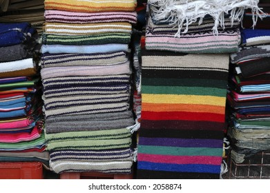 Blankets at Mexican market