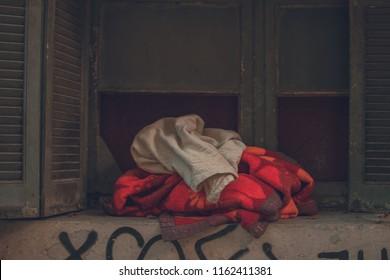 blankets on window