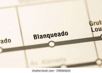 Blanqueado Station. Santiago Metro map.