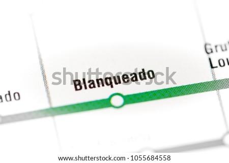Santiago Subway Map.Blanqueado Station Santiago Metro Map Stock Photo Edit Now