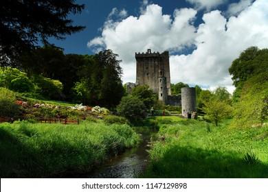 Blarney castle outside Cork city in Ireland.