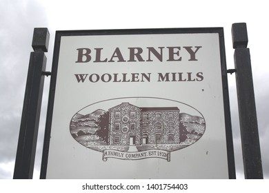 Blarney, County Cork, Republic of Ireland - May 6, 2019: Sign for Blarney Woolen Mills