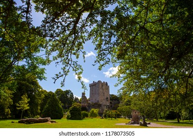 Blarney, Republic of Ireland - August 16th 2018: A view of the historic Blarney Castle in Blarney, Republic of Ireland.