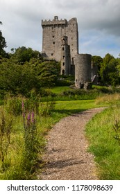 Blarney, Republic of Ireland - August 16th 2018: A view of the historic Blarney Castle, in the town of Blarney, Republic of Ireland.