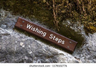 Blarney, Republic of Ireland - August 16th 2018: The Wishing Steps at the historic Blarney Castle in Blarney, Republic of Ireland.