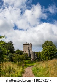 Blarney, Republic of Ireland - August 16th 2018: A view of the historic Blarney Castle - home of the famous Blarney Stone, in Blarney, Republic of Ireland.